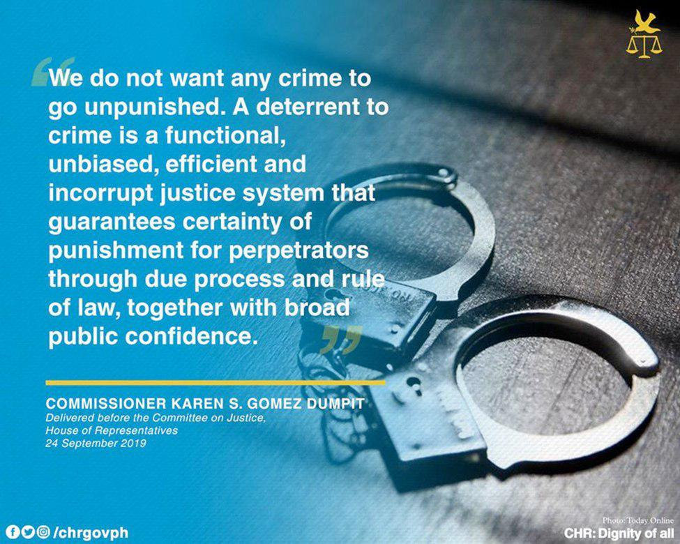 Commissioner Karen Gomez-Dumpit delivered before the Committee on Justice House of Representatives